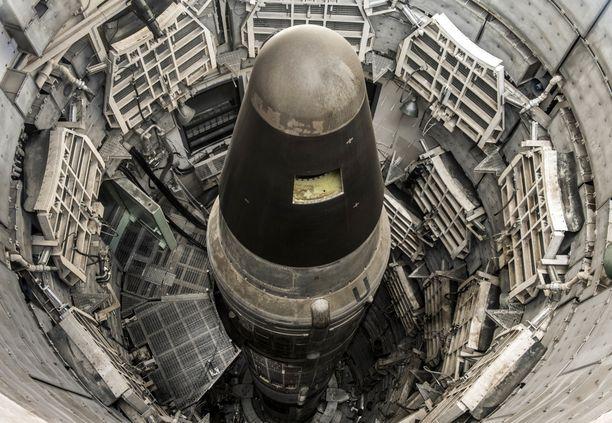 Titan II -mannertenvälinen ohjus on museoitu siiloonsa Arizonaan.