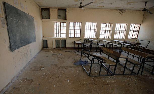Tästä Yobessa sijaitsevasta koulusta tytöt siepattiin.