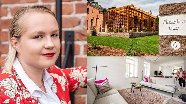 Elina Tikkasen tuleva koti sijaitsee Kouvola Pioneeripuistossa. Kotiin pääsee kurkistamaan heinäkuussa ja elokuun alussa Kouvolan asuntomessuilla.