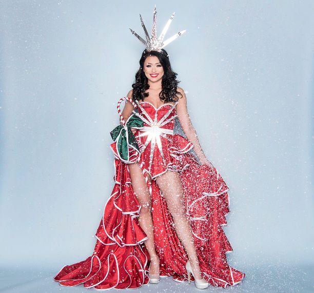Shirlyn fantasia-asun teemaksi valikoitui joulu.