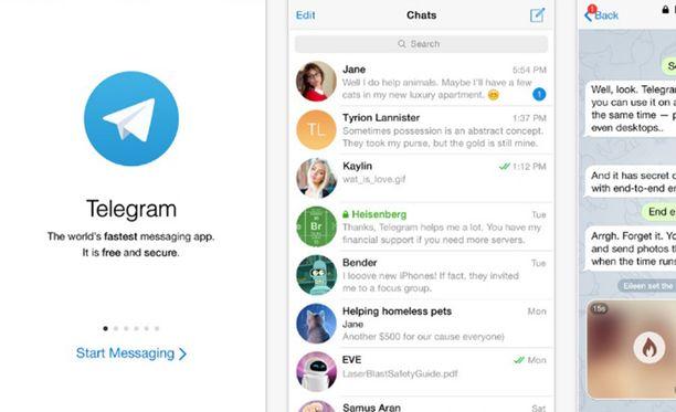 Telegram on Whatsappia vastaava pikaviestisovellus.