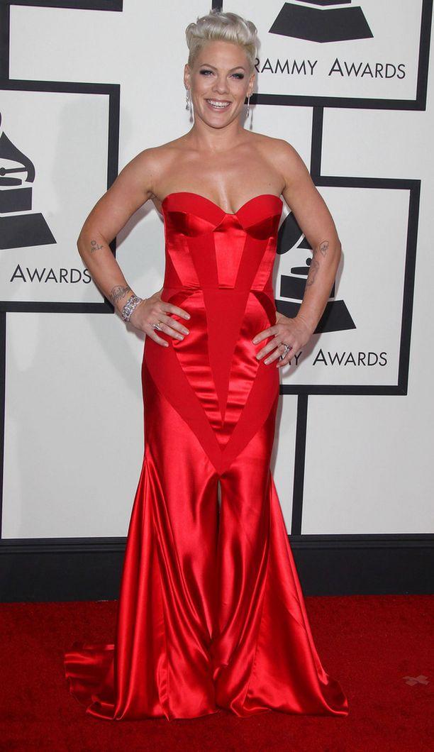 Pink Grammy Awardseissa vuonna 2014.
