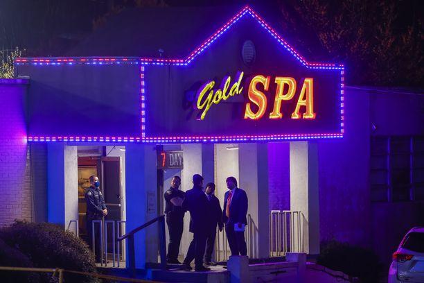 Gold Spa Atlantassa oli yksi paikoista, joissa 21-vuotiaan epäillään ammuskelleen.