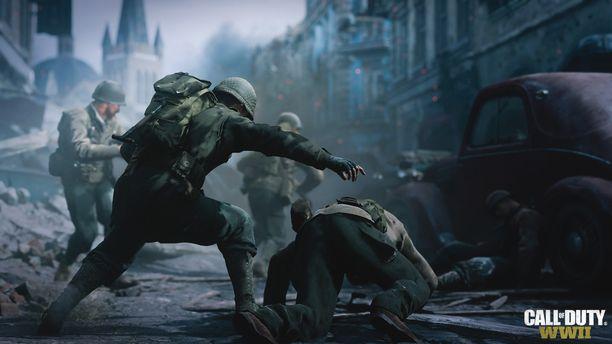 Call of Duty WWII -pelissä taistellaan toisessa maailmansodassa.