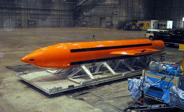 MOAB-pommia ei ole koskaan aikaisemmin käytetty taistelussa.