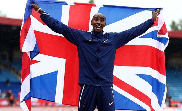 Mo Farah juoksi voittoon Birminghamissa.