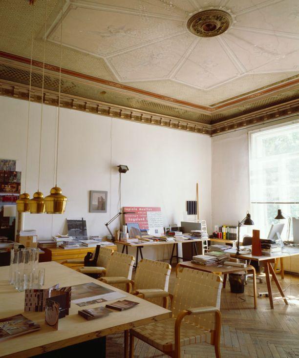 Tämä huone oli aikoinaan Suomen rakennustaiteen museon johtajan huone.