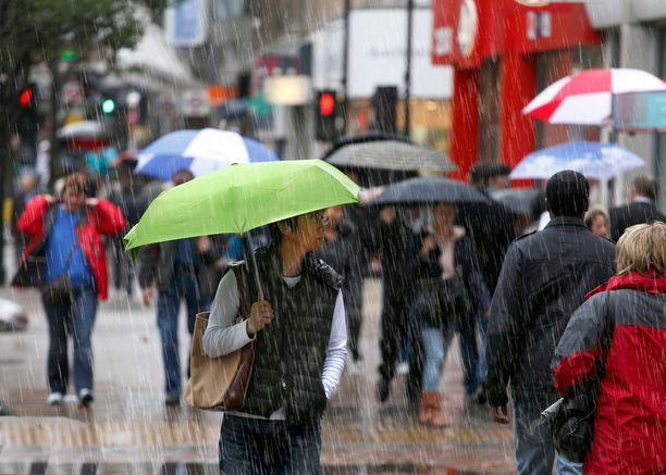 Ilma jatkuu sateisena etenkin maan etelä- ja keskiosissa.