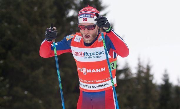 Martin Johnsrud Sundby otti uransa ensimmäisen Kollen-voiton.