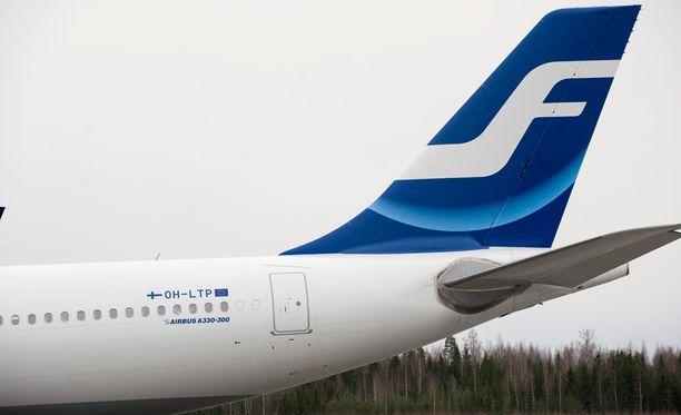 Finnairin lento Kokkolaan oli etuajassa. Arkistokuva.