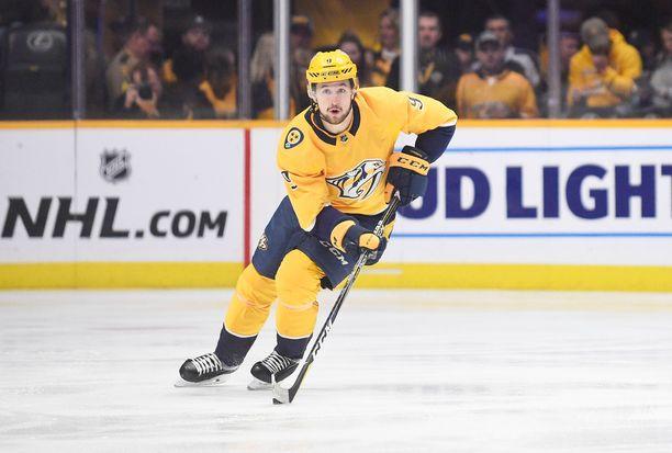 Filip Forsberg teki NHL:n historian ja kauden kolmannen ilmaveivimaalin.