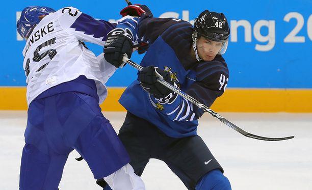 Miro Heiskanen oli Koreaa vastaan Suomen parhaimmistoa.
