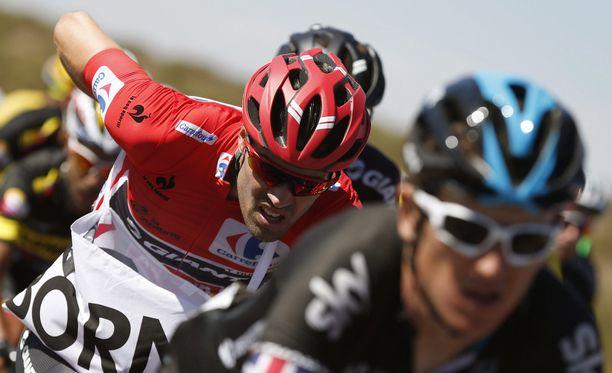 Tom Dumoulin romahti lauantaina Vueltan kärkipaikalta kuudenneksi.