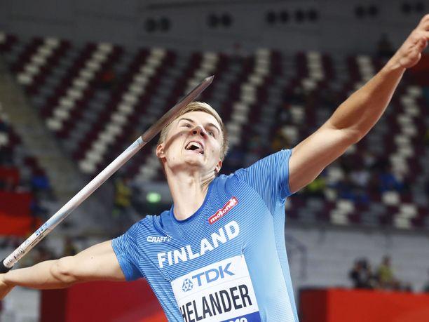 Oliver Helander tähtää Tokion olympialaisiin.