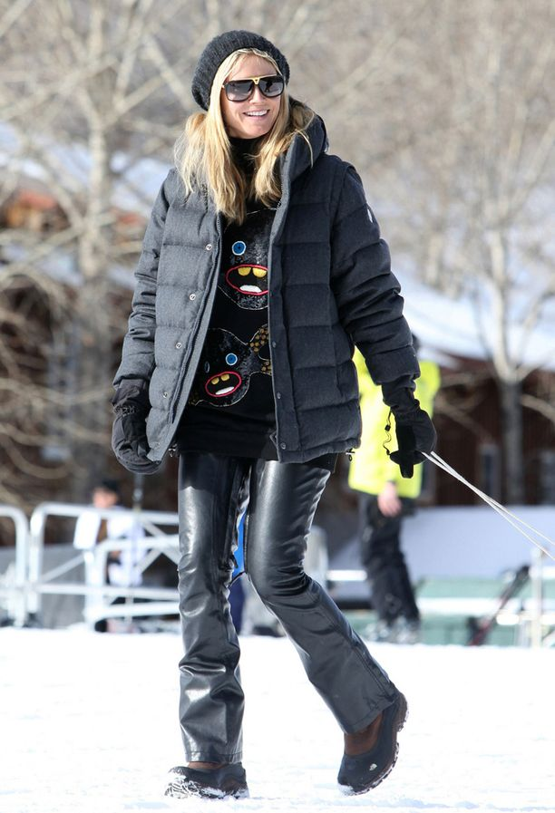 Heidi Klumin ulkoilulook.