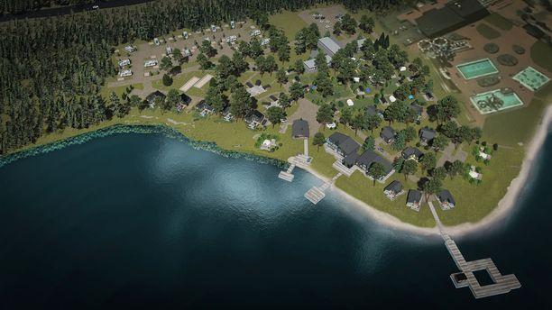 Havainnekuva Tykkimäki Resortista. Sen on määrä avautua vuonna 2022.