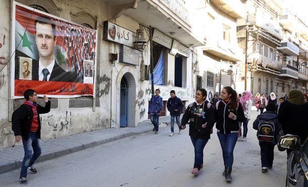 Homsia kutsuttiin aikanaan Syyrian vallankumouksen pääkaupungiksi.Tämä kuva on Homsista tiistailta.