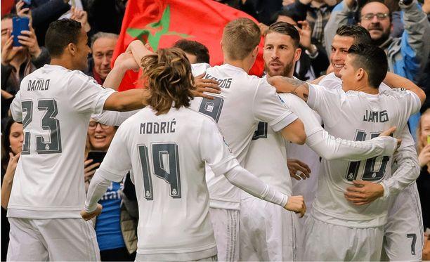 Real Madridin pelaajilla on jo syntynyt rutiini maalituuletuksiin.