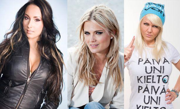 Anne-Mari Berg, Viivi Avellan ja Janica Kortman ovat julkisuudesta tuttuja kaunottaria.