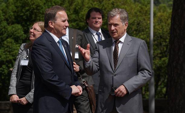 Ruotsin pääministeri Stefan Löfven ei lämmennyt puolustusliitolle Suomen ja Ruotsin välillä.