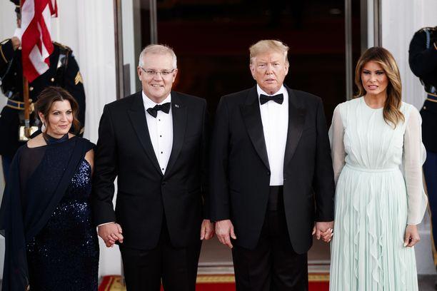 Australian pääministeri Scott Morrison teki syyskuussa vaimonsa kanssa valtiovierailun Yhdysvaltoihin. Seuruetta isännöi presidenttipari Donald ja Melania Trump.