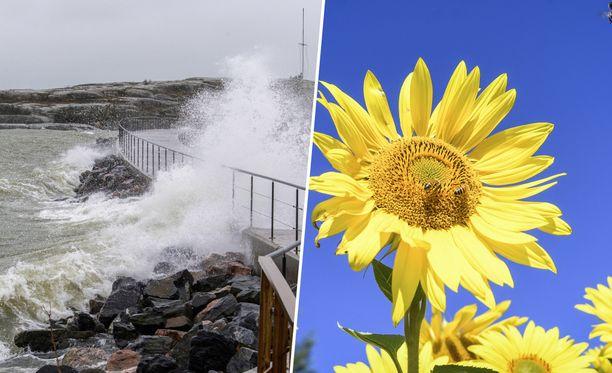 Perjantaina Suomea voi kurittaa kevätmyrsky, mutta sunnuntaina sää lämpenee.
