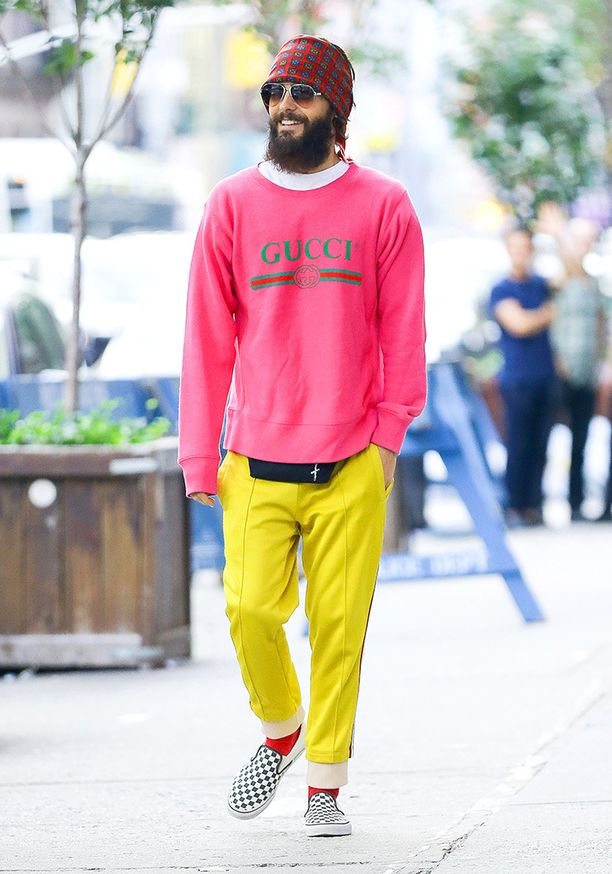 Jared on myös merkkitietoinen, yllä on usein Guccia.