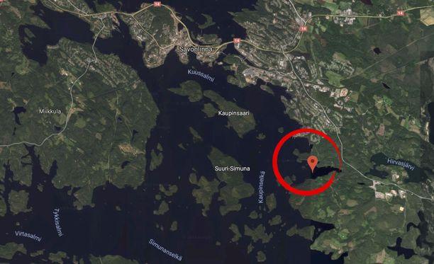 Savonlinnan Hirvaslahdessa hukkui maanantaina paikkakuntalainen nainen.