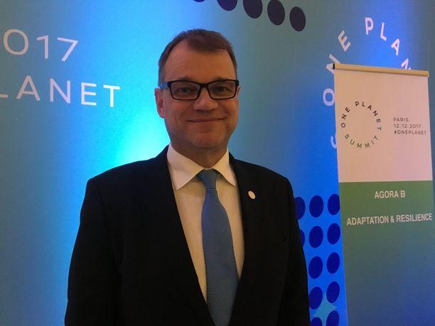 Pääministeri Juha Sipilän mukaan Suomi osoitti huippukokouksessa omaa edistyksellisyyttään ilmastonmuutoksen torjunnassa.