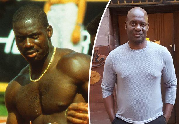 Ben Johnson vuonna 1988 ja 30 vuotta myöhemmin.