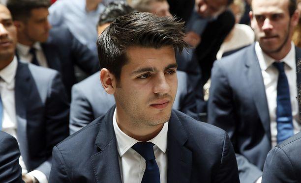 Álvaro Morata on siirtymässä Manchesteriin.