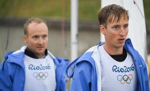 Joonas (vas.) ja Niklas Lindgren harmittelivat Rion surkeita olosuhteita.