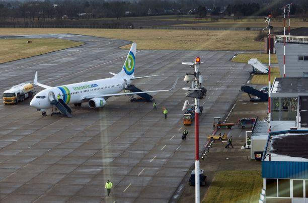 Transvian kone teki hätälaskun Faroon. (Kuvituskuva)