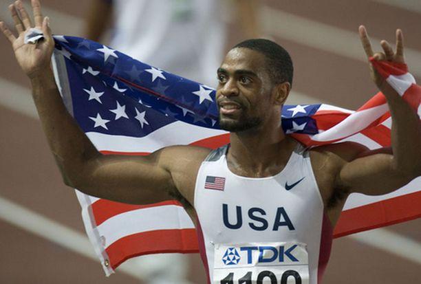 Tyson Gay on voittanut jo 100 ja 200 metriä.