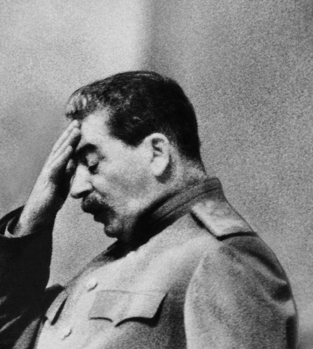 Voi vain kuvitella Josif Stalinin reaktion, kun totuus talvisodasta on alkanut valjeta hänelle. Kuva 1930-luvulta.