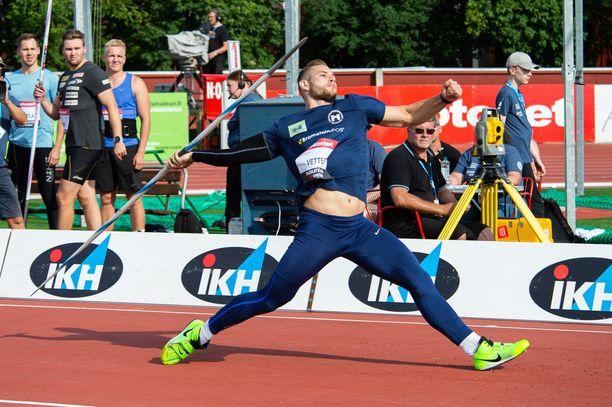 Johannes Vetter voitti Kuortaneen kisan.