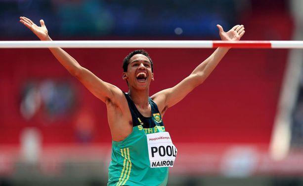 Breyton Poole tuuletti ylivoimaista MM-voittoaan Nairobissa.