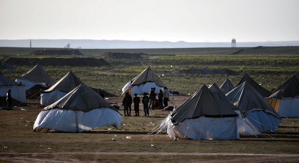 Äärijärjestö Isisin kutistuva alue Baghouzissa.