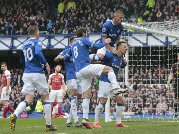 Everton juhli 1-0-voittoa Goodison Parkilla.