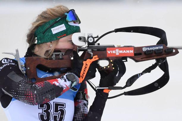 Lisa Theresa Hauser hiihti voittoon Italiassa.