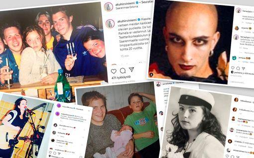 Toni Nieminen, Kiti Kokkonen, Janne Kataja ja monet muut osallistuivat nuoruuskuvahaasteeseen - katso kuvat