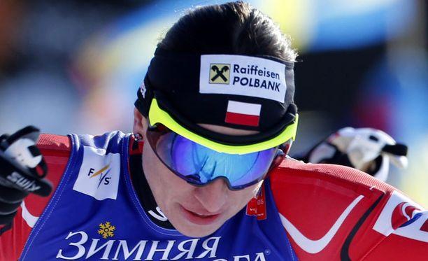 Justyna Kowalczyk hiihti upeasti ykköseksi.