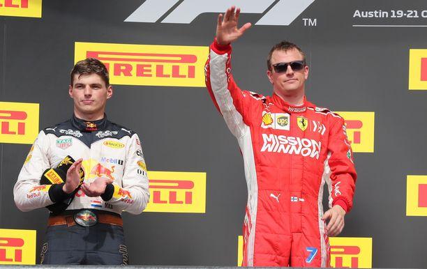 Kun Kimi Räikkönen otti vuonna 2018 uransa toistaiseksi viimeisen osakilpailuvoiton Yhdysvalloissa, Max Verstappen sijoittui toiseksi.