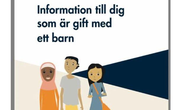 Ruotsissa vedettiin jakelusta pois esite, joka on suunnattu lapsen kanssa naimisissa oleville. Kuva on kuvakaappaus esitteen kannesta.
