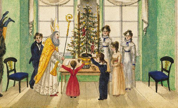 Itävallassa juhlitaan Pyhää Nikolausta vuonna 1820.