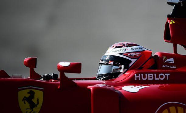 Kimi Räikkönen on ajanut lauantain viidenneksi nopeimman kierrosajan.