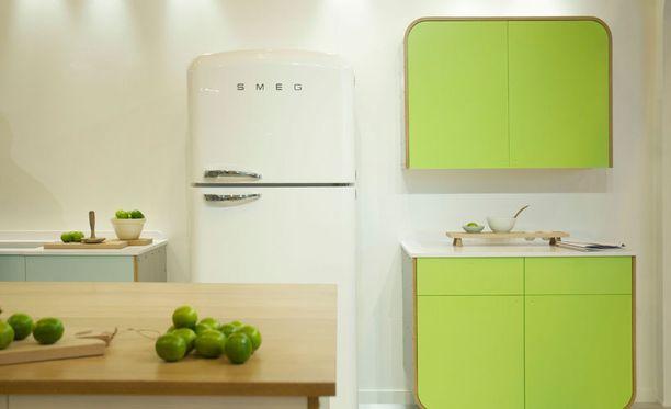 Retrohenkisiä jääkaappeja saa uusina.
