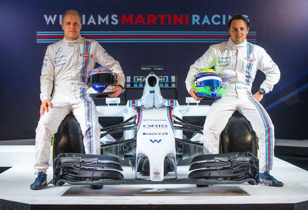 Valtteri Bottas ja Felipe Massa ovat Williamsin ohjastajat.