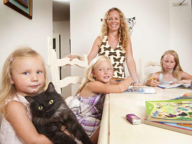 Kotiopetuksessa olevia lapsia vuonna 2010.