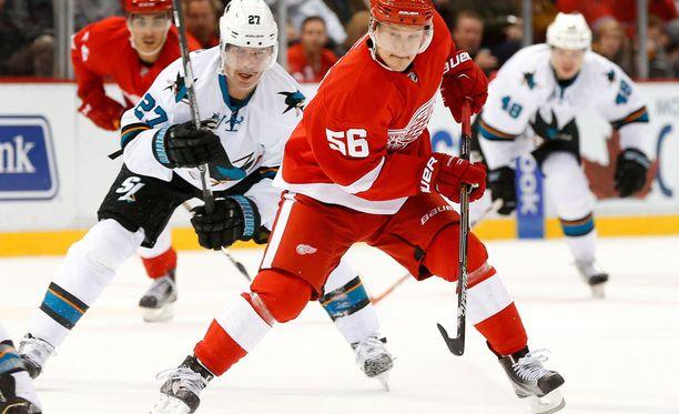 Detroitin Teemu Pulkkinen (56) haluaa jatkaa uraansa NHL:ssä.